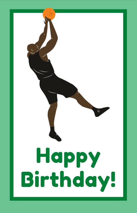 printable basketball happy birthday cards
