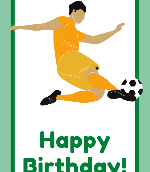 printable soccer happy birthday cards